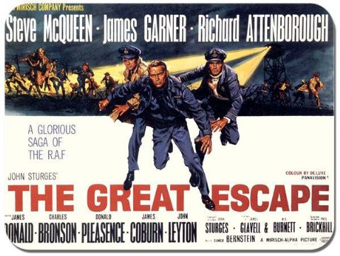 The Great Escape Classic Movie Poster Mouse Mat. Vintage Film Mouse pad